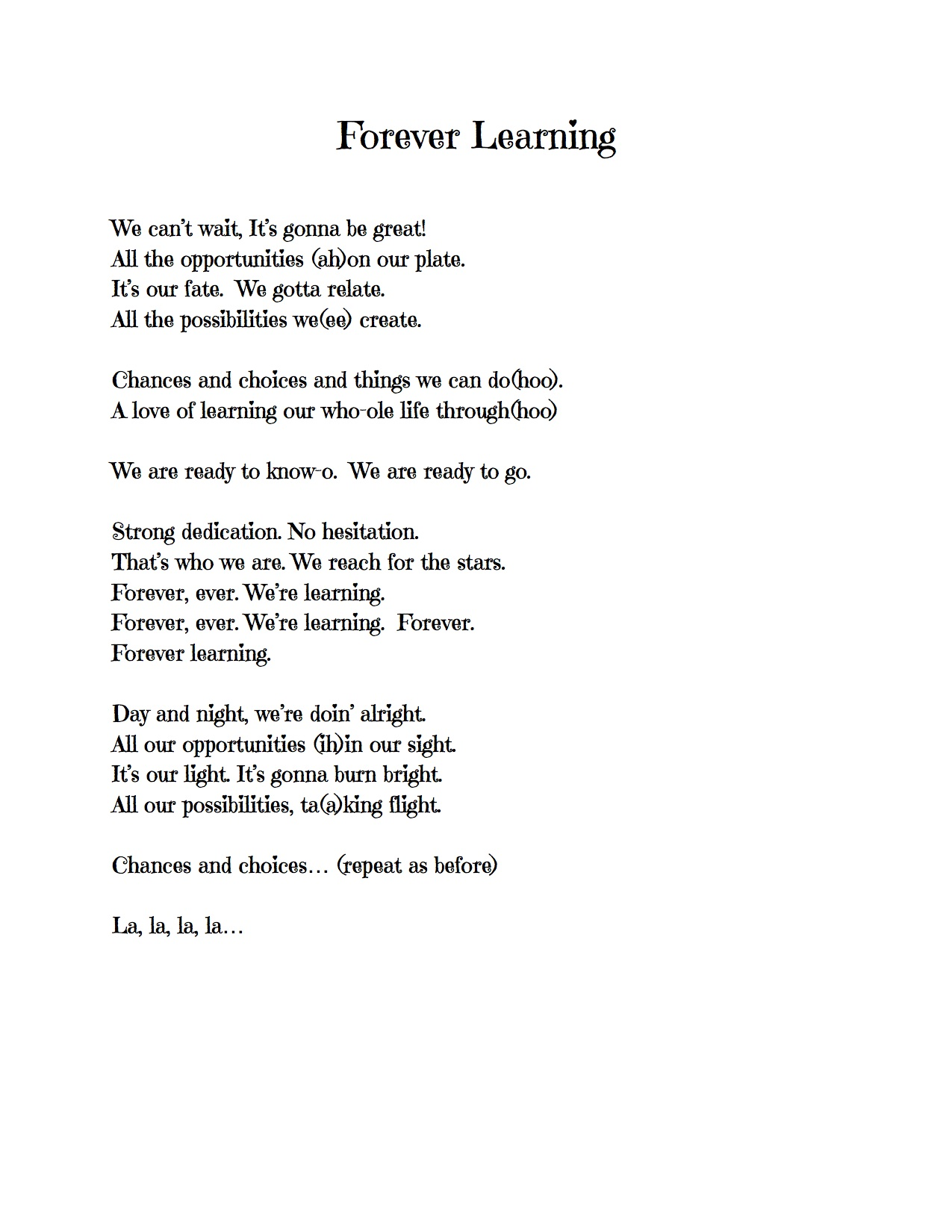 Song Lyrics – Page 2 – Pine Glen Music Blog