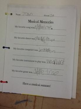 """John's """"Musical Memories"""""""